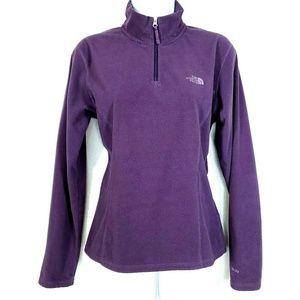 The North Face 1/4 Zip Fleece Pullover Purple M